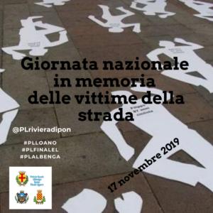 Giornata nazionale in memoria delle vittime della strada – 17 novembre 2019