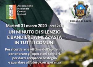 31 marzo, ore 12.00: un minuto di silenzio e bandiere a mezz'asta