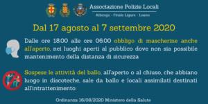 Ordinanza Ministero della Salute 16/08/2020